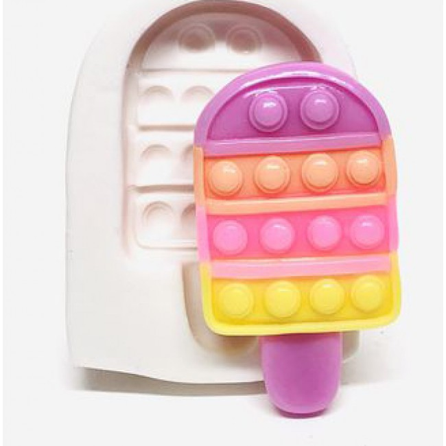 Molde de Silicone Fidget Toy Pop It Sorvete Picole