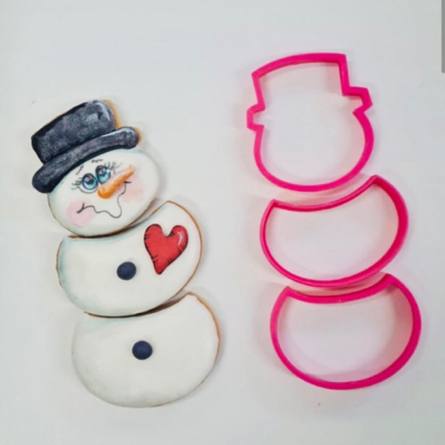 Cortadores Linha Nani, Boneco de Neve, Natal, Inverno