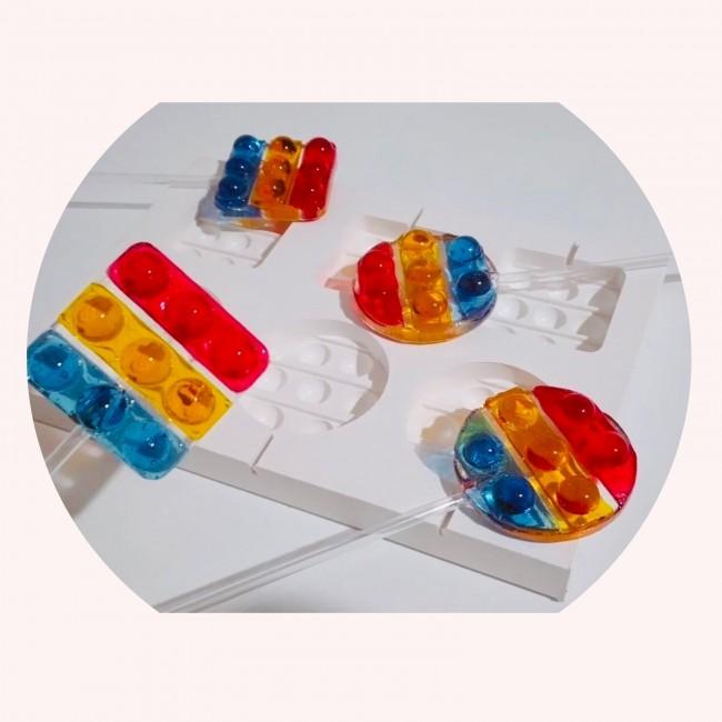 Molde de Silicone Pirulito de Cristal Pop It Fidget Toys