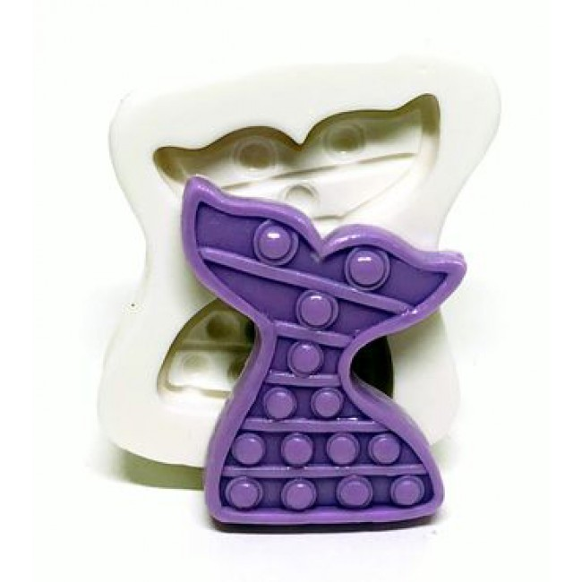 Molde de Silicone Cauda da Sereia Fidget Toys Pop It