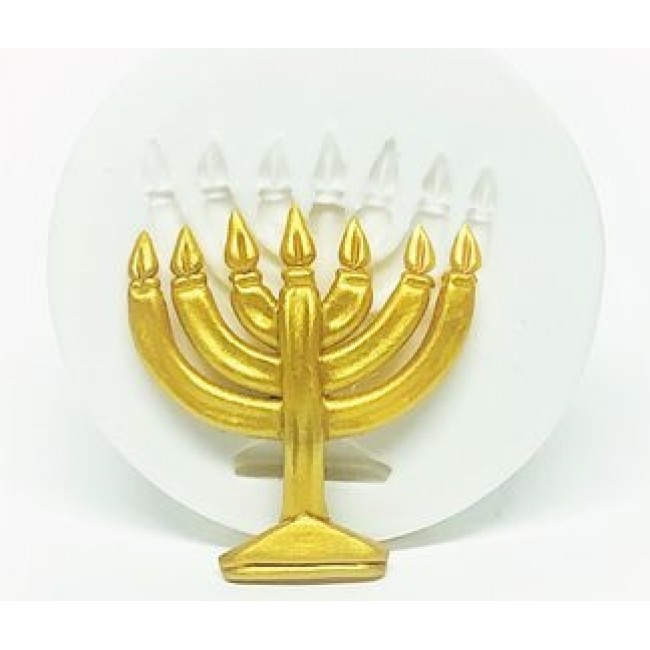 Molde de Silicone Simbolo Judaico - Menorah Castiçal