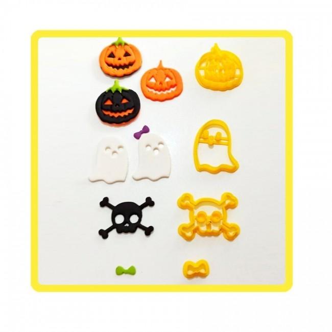 Kit Cortadores Halloween, Dia das Bruxas Para Confeitar