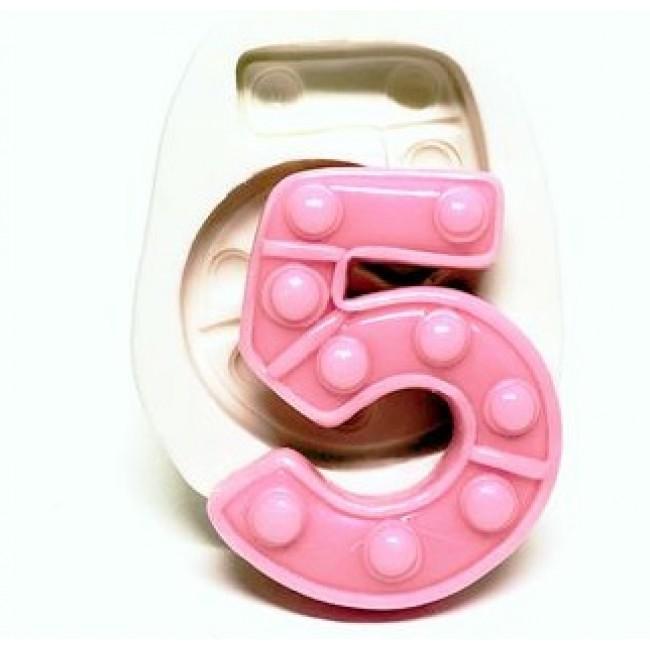 Molde de Silicone Fidget Toys Pop It Numero 5 Cinco