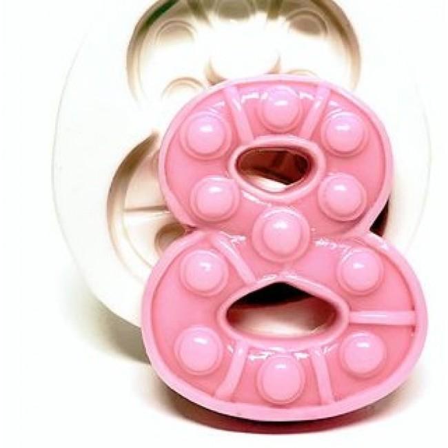 Molde de Silicone Fidget Toys Pop It Numero 8 Oito