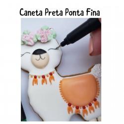 Caneta Preta Importada Ponta Fina