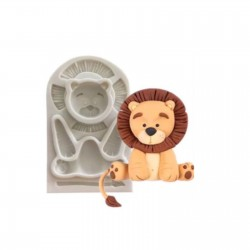 Molde de Silicone Leão Decorar Safari