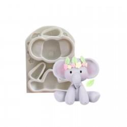 Molde de Silicone Elefante Decorar Safari