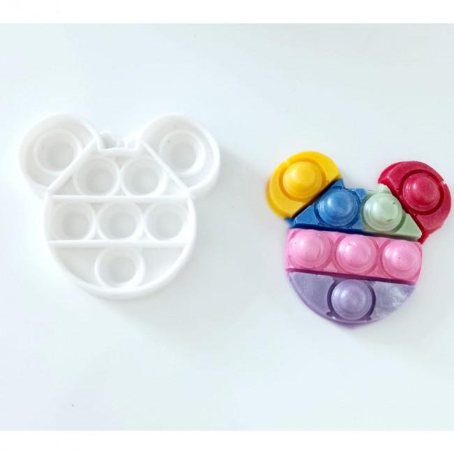 Molde de Silicone Fidget Toys Pop It Mickey ou Minnie