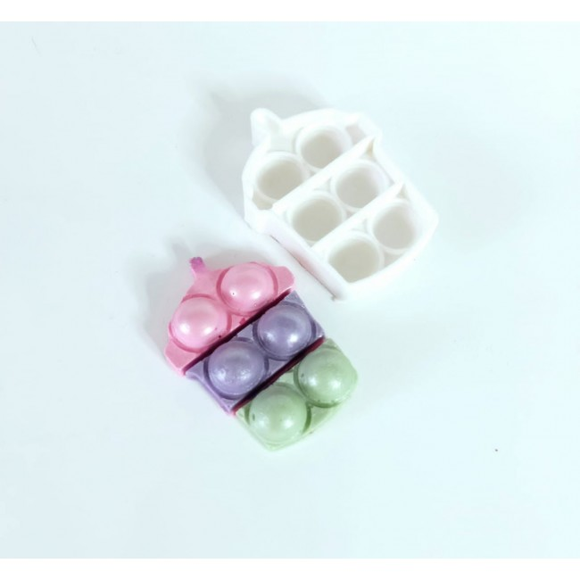 Molde de Silicone Fidget Toys Pop It Milk Shake