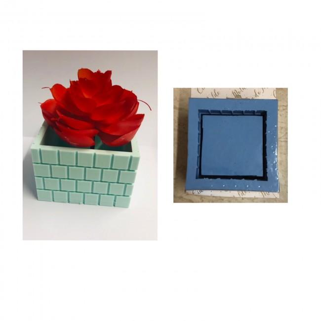 Molde de Silicone Vaso Formato Muro