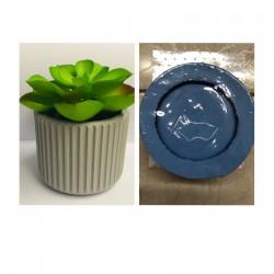 Molde de Silicone Vaso Formato Listras