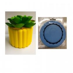 Molde de Silicone Vaso Formato Camadas