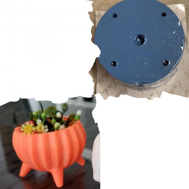 Molde de Silicone Vaso com Pés