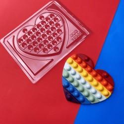 Forma Fidget Toys Pop It Coração Simples