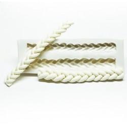 Molde de Silicone Cordas Tranças Para Decorar Mod 2