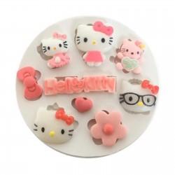 Molde de Silicone Hello Kitty Logo e Itens