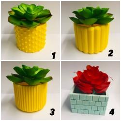 Vaso 3D de Plastico Decorativo A Sua Escolha