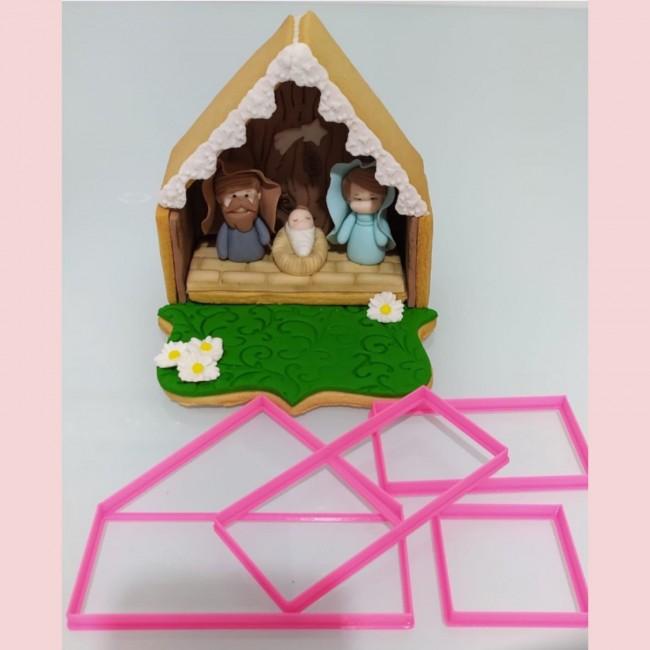 Cortador Casa de Biscoito Para DEcorar Natal