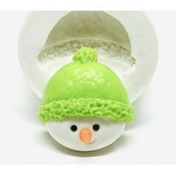 Molde de Silicone Rosto Boneco de Neve Decorar Natal