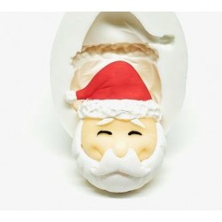 Molde de Silicone Rosto Papai Noel Decorar Natal