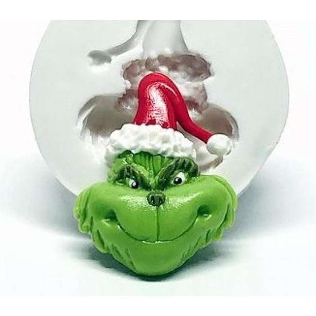 Molde de Silicone Rosto Grinch Decorar Natal
