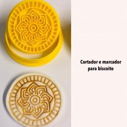 Kit Cortador e Marcador Para Biscoito Arabescos Mod 1