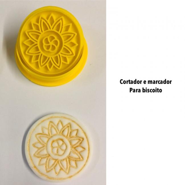 Kit Cortador e Marcador Para Biscoito Arabescos Mod 4