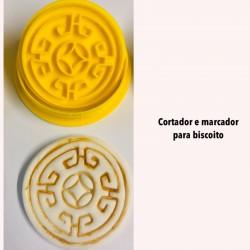 Kit Cortador e Marcador Para Biscoito Arabescos Mod 6