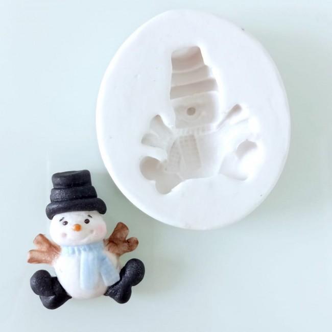 Molde de Silicone Boneco de Neve Decorar Natal