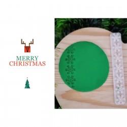 Régua Marcadora Floco Neve para Decorar Natal