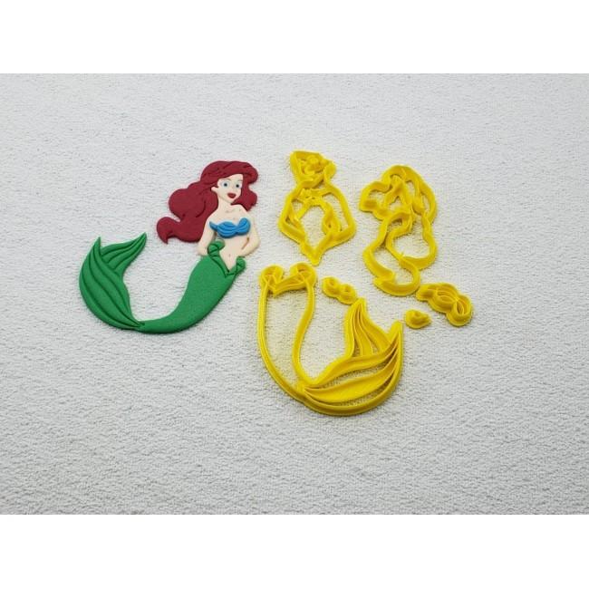 Cortador Ariel Pequena Sereia para Decorar Princesas Disney