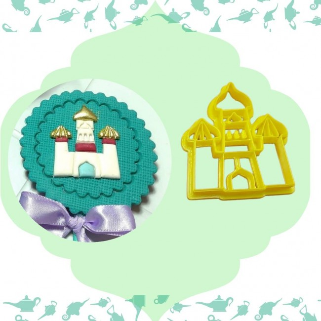Cortador Castelo Aladdin 3cm, Arábia para Decorar Disney