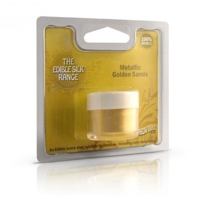 Glitter Comestível Importado Rainbow Dust na Cor Pó Dourado