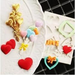 Molde de Silicone Balão de Coração para Dia dos Namorados