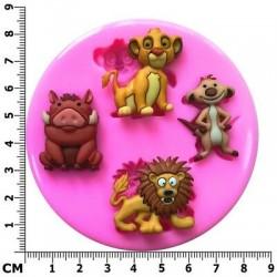 Molde de Silicone Rei Leão para Decorar, Simba, Timão e Pumba