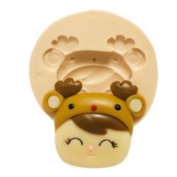 Molde de Silicone Me Too Doll, Rosto Deer Girl
