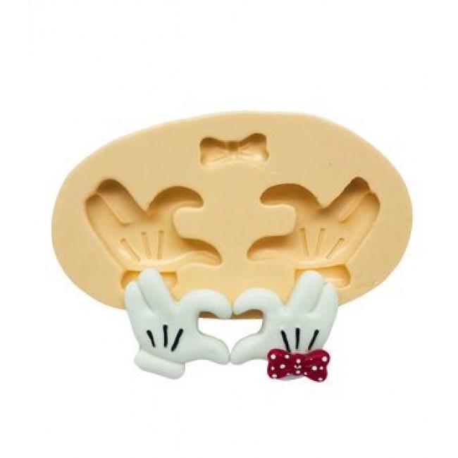 Molde de Silicone Mão Mickey e Minnie S2