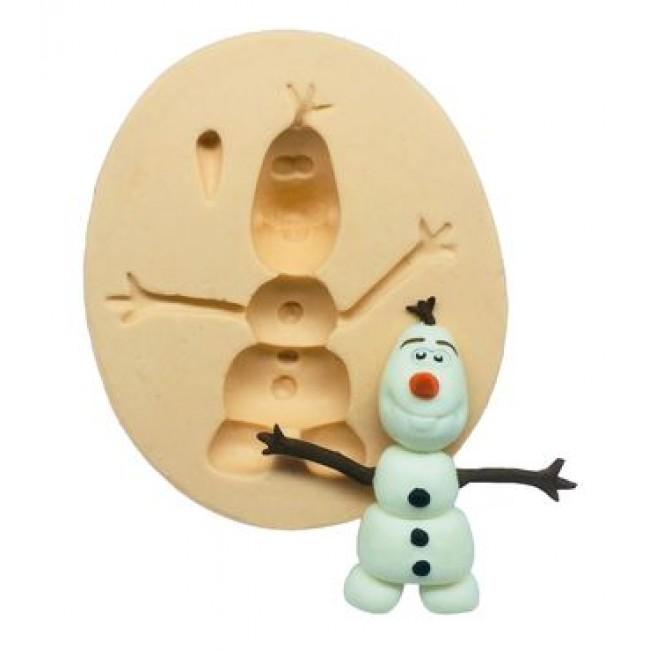 Molde de Silicone Olaf, Frozen para Decorar