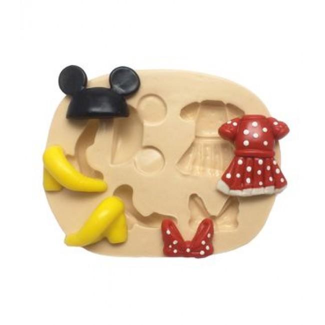 Molde de Silicone Acessórios da Minnie, Turma do Mickey