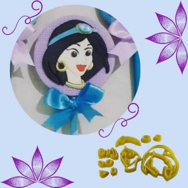 Cortador para Decorar Princesa Jasmine Aladdin, Disney