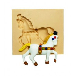 Molde de Silicone Cavalo de Parada para Decorar