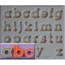 Molde de Silicone Alfabeto Minúsculo para Decorar Festas e Bolos