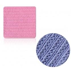 Molde de Silicone Textura de Tricot para Decorar