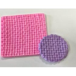 Molde de Silicone Textura de Tijolos para Decorar