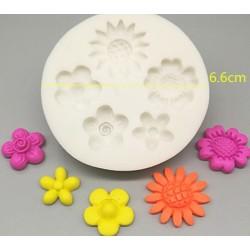 Molde de Silicone Várias Flores para Decorar