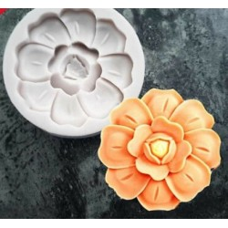 Molde de Silicone Flor Desabrochando para Decorar