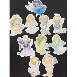Papel de Arroz Vários Anjos Para decorar religião