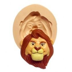 Molde de Silicone Rosto Rei Leão para Decorar Simba Grande e Mufasa