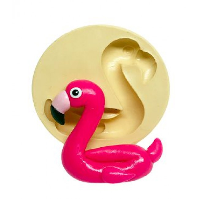 Molde de Silicone Flamingo Pool Party