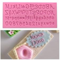 Molde de Silicone Alfabeto Maiúsculo e Minúsculo para Decorar  Letras